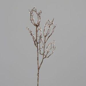 Baies branche scintillante platine H70 cm 682216