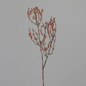 Baies branche scintillante cuivre H70 cm 682218