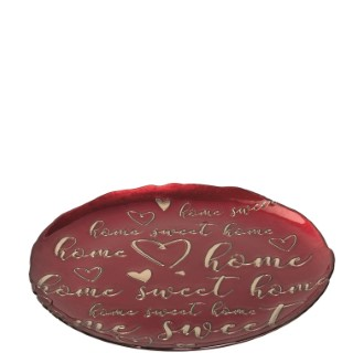 Assiette Rouge Home Sweet home – 33 cm 682732