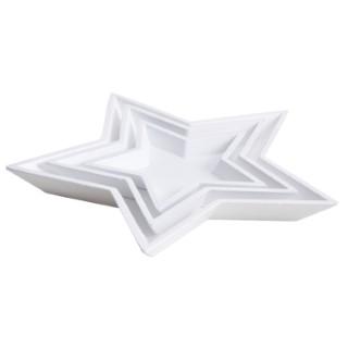Plat étoile x3 bois 42x42x4 cm T3 683220