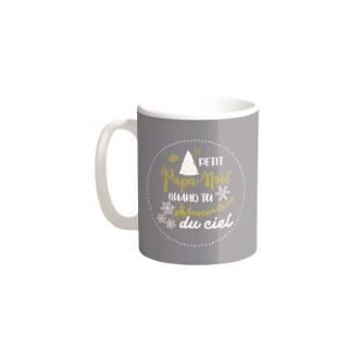 Mugs Petit Papa Noël Céramique Fond Gris H9.50 cm 683262