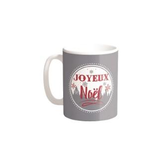 Mugs Joyeux Noël Céramique Fond Gris H9.50 cm 683263