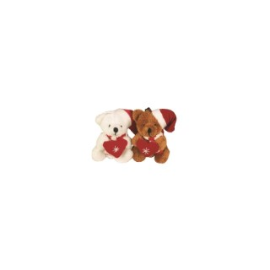 Suspension Ours Peluche avec Cœur 8 cm Marron Coin des Enfants 683289
