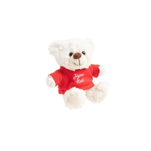 Ours blanc tee shirt rouge joyeux Noël 683298