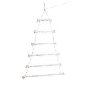 Sapin alternatif en corde avec 45 LED blanc chaud 60 x 80 cm 683611