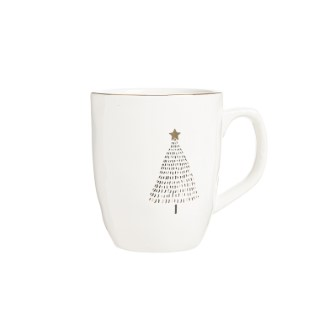 Mug maddy en céramique blanche Ø 9,5 x 13 cm 683724