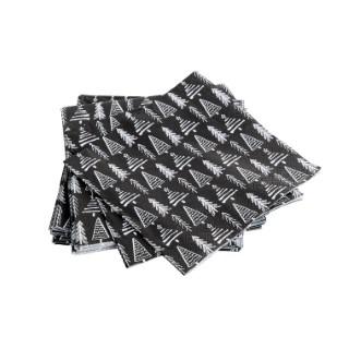 Serviettes stamp noir 17 x 17 cm 683725