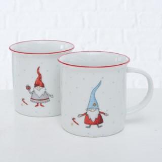 Tasse gnome blanche et bleue 12x9x9 cm 683735