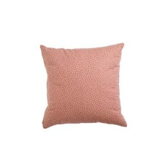 Coussin myosotis rose en coton et polyester 45 x 45 cm 683831