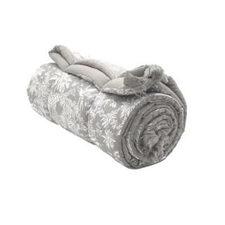 Édredon Gazelle Gris Coton 150x150 cm 683836