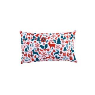 Coussin essentiel de Noel tradition multicolore en coton 50 x 30 cm 683868