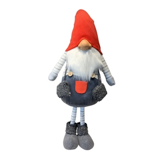 Père Noël à gros nez rouge & gris - grand modèle 684091
