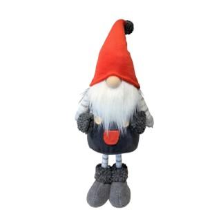Père Noël à gros nez rouge & gris - petit modèle 684092