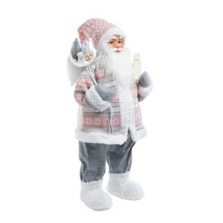 Père Noël Cadeau Tissu Plastique H79 cm 684203