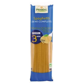 Spaghetti demi complet bio cuisson rapide en sachet de 500 g 684289
