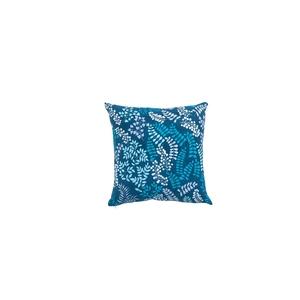 Coussin essentiel contemporain bleu en coton 45 x 45 cm 684332