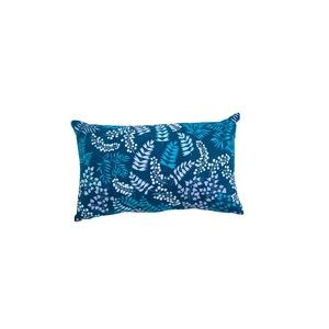 Coussin essentiel contemporain bleu en coton 50 x 30 cm 684333