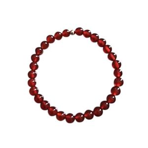 Bracelet agate cornaline unie 6mm 685042