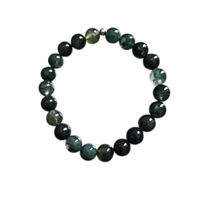 Bracelet agate mousse 6mm 685045