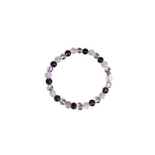 Bracelet améthyste cristal quartz rose 4mm 685135