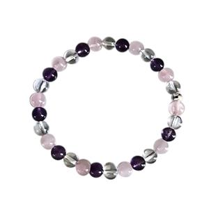 Bracelet améthyste cristal quartz rose 8mm 685137