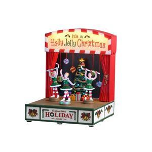 Récital de Noël des Demoiselles Polyrésine 17.6x13.6x13.6 cm Multicolore 685794