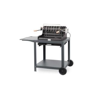 Barbecue avec chariot exclusive mendy gris ardoise 115 x 77 x 105 cm 686991