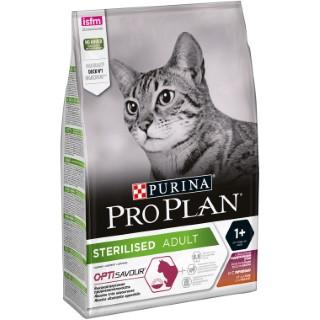 Croquettes pour chat stérilisé Sterilised Optisavour au canard 3 kg 691698