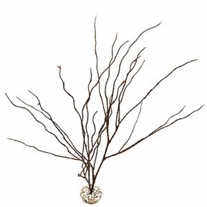 Décor imitation bois fin en plastique pour terrarium 45 cm 693182