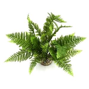 Fougère verte en tissu pour terrarium 25 cm 693184