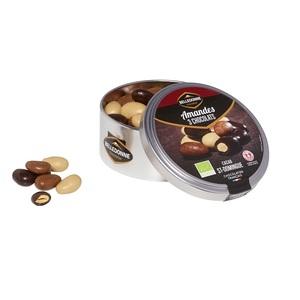 Amandes 3 chocolats boîte métal 150g 694178