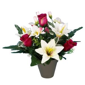 Pot lys orchidée bouton de rose 694283