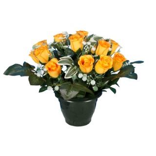 Pot bouton de rose gypso 694287
