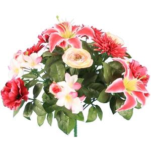 Bouquet 14 têtes chrysanthème bouton pavot 694298