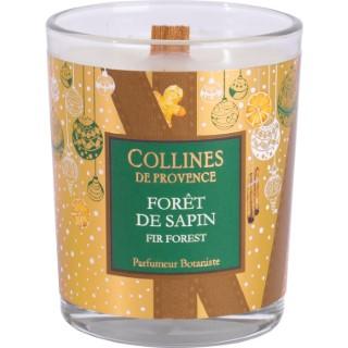 Bougie parfumée Collines de provence senteur Forêt de Sapin 75g 694300