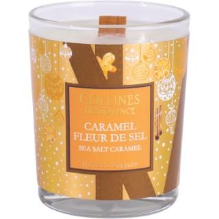 Bougie parfumée Collines de provence senteur Caramel Fleur de sel 75g 694306