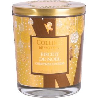 Bougie parfumée Collines de provence senteur Biscuit de Noël 180g 694313