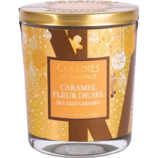 Bougie parfumée Collines de provence senteur Caramel Fleur de sel 180g 694314