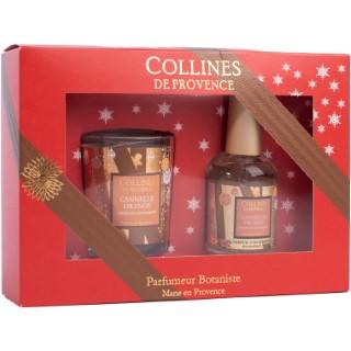Coffret cadeau Collines de Provence senteur Cannelle Orange 694326