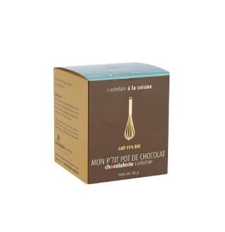 Fondue au chocolat au lait bio 41% Chocolaterie Castelain - 100 g 694533