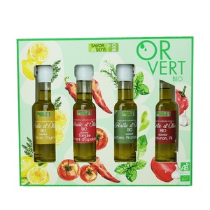 Coffret de 4 huiles d'olive bio 4 x 10 cl 694794