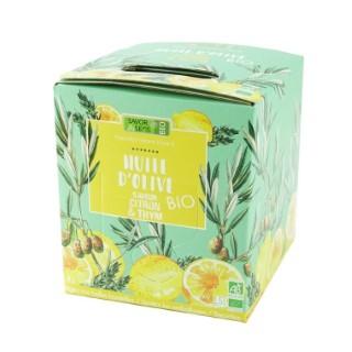 Huile d'olive bio saveur citron et thym en format bib de 1,5 L 694799
