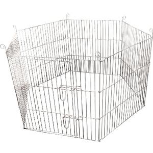 Cage à lapin hexagonale grise pour extérieur Ø60 cm 694830