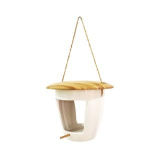 Mangeoire palz en bois et céramique Ø 18 x H 13,8 cm 695034