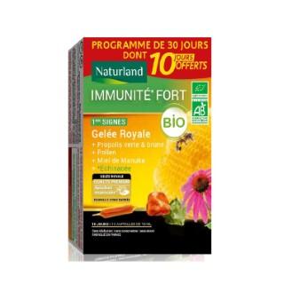 Complément alimentaire Immunité Fort bio ampoule 30x10 ml + 10 ampoules offertes 695216