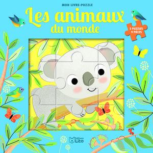 Mon livre puzzle 9 pièces les animaux du monde éditions Lito 695524