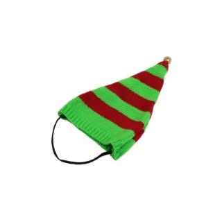 Bonnet de lutin rayé vert et rouge taille M 696042