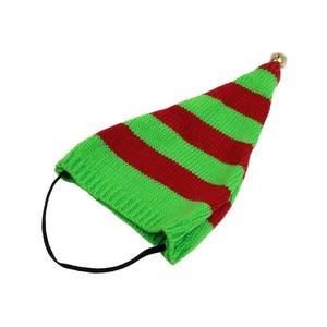 Bonnet de lutin rayé vert et rouge taille L 696043