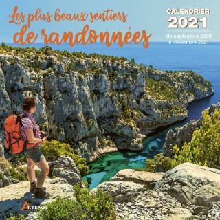 Calendrier les plus beaux sentiers 2021 éditions Artemis 696501