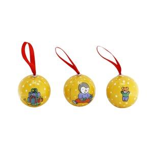 Lot de 5 boules T'choupi Noël 2020 696758